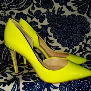 Lime green Jessica Simpson pumps.